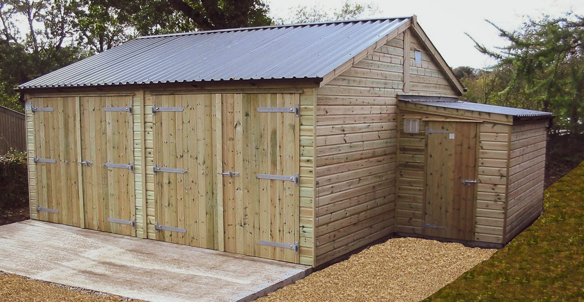 6-x-6m Double Garage and Store