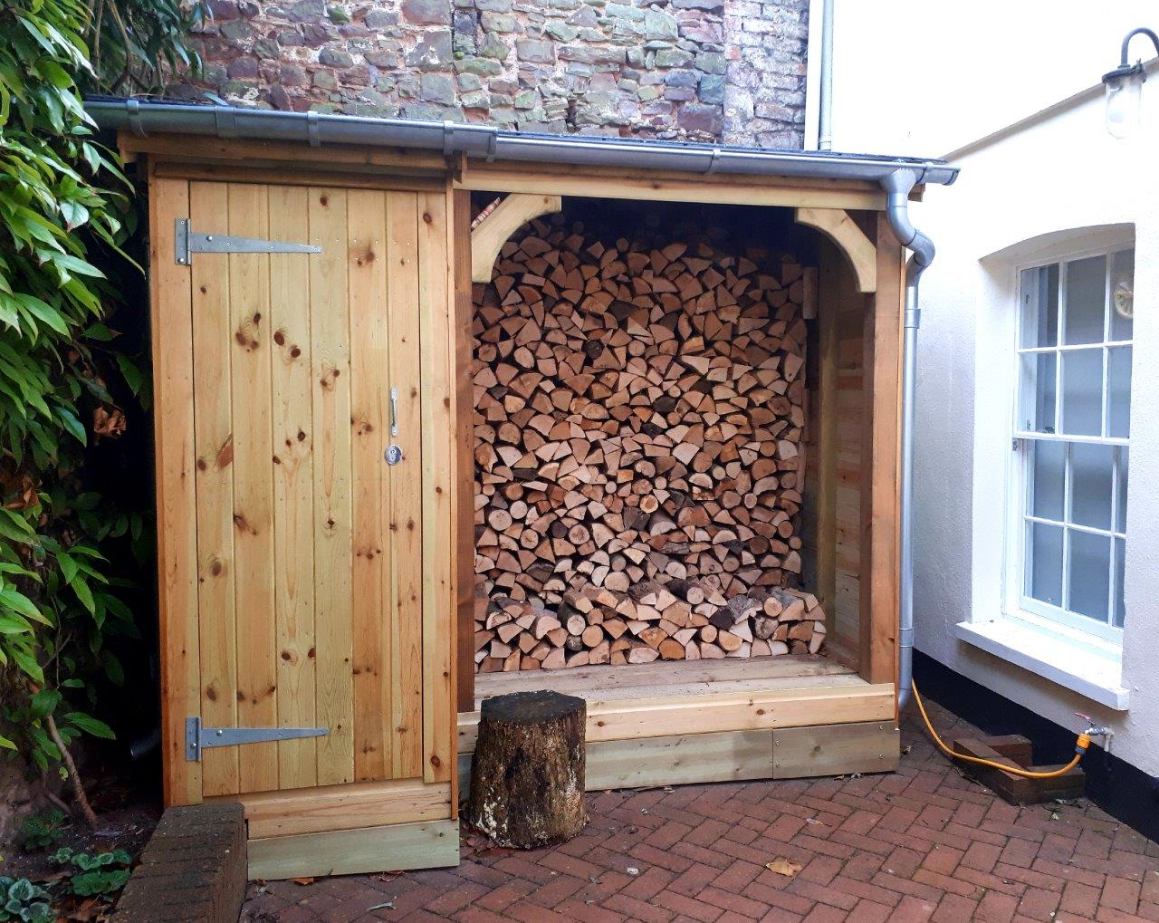 Shed and log store