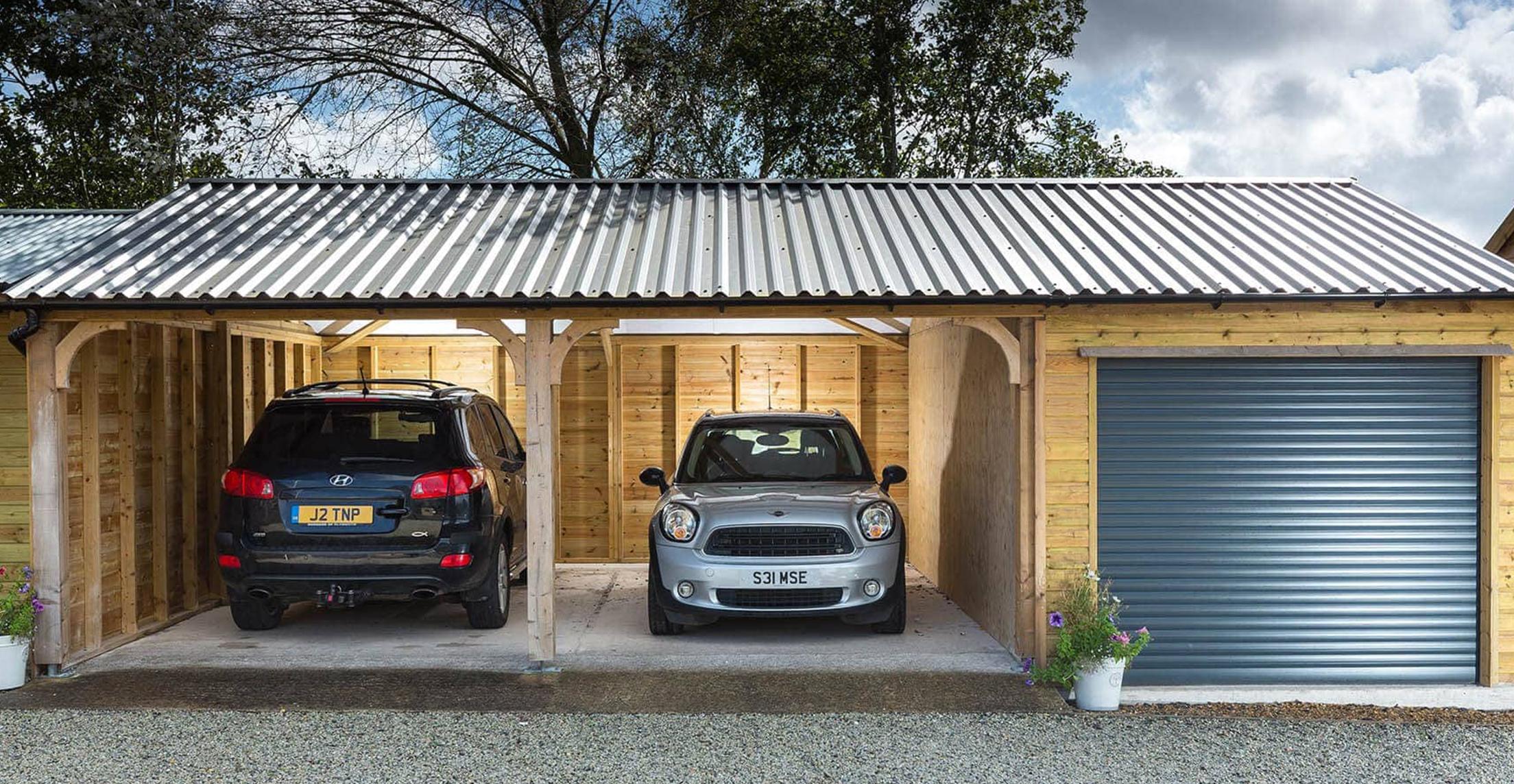 Wooden Carports In Devon By Shields Garden Buildings