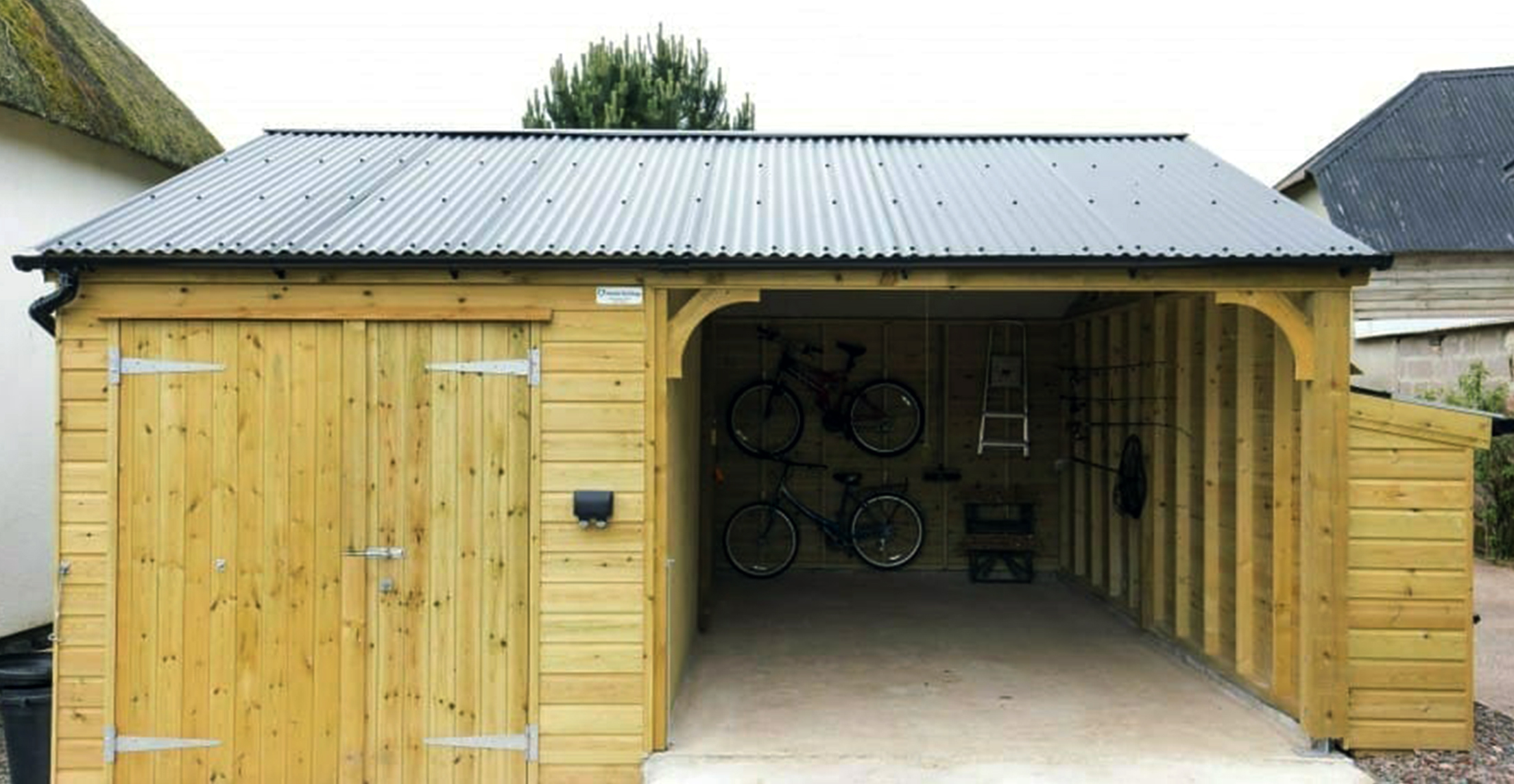 Large carport workshop