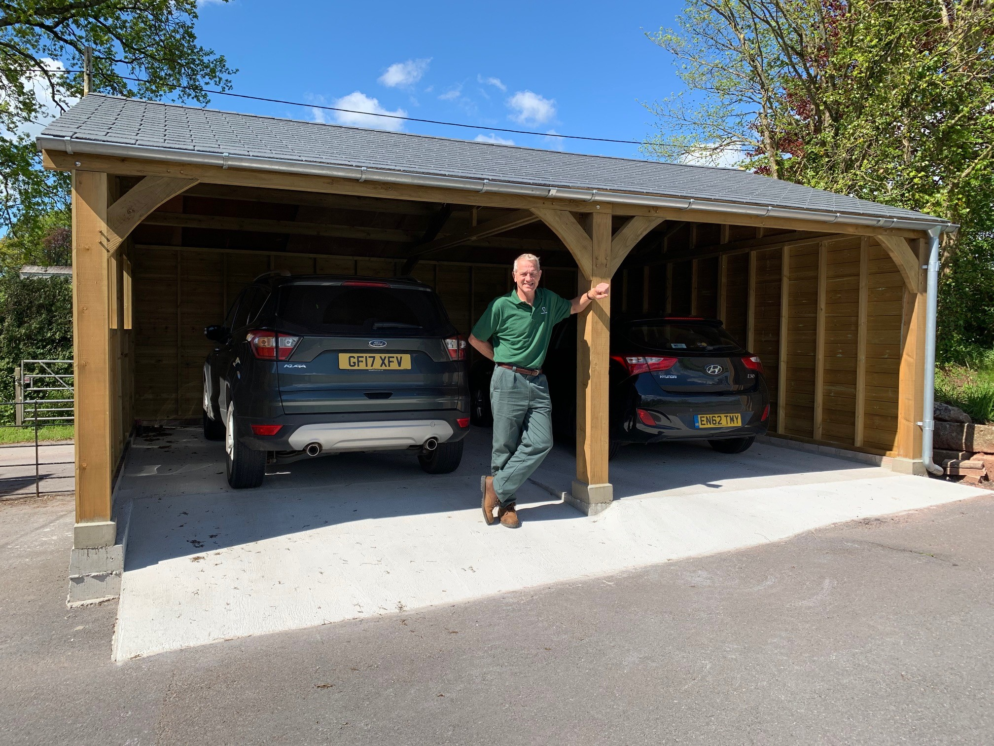 Double carport