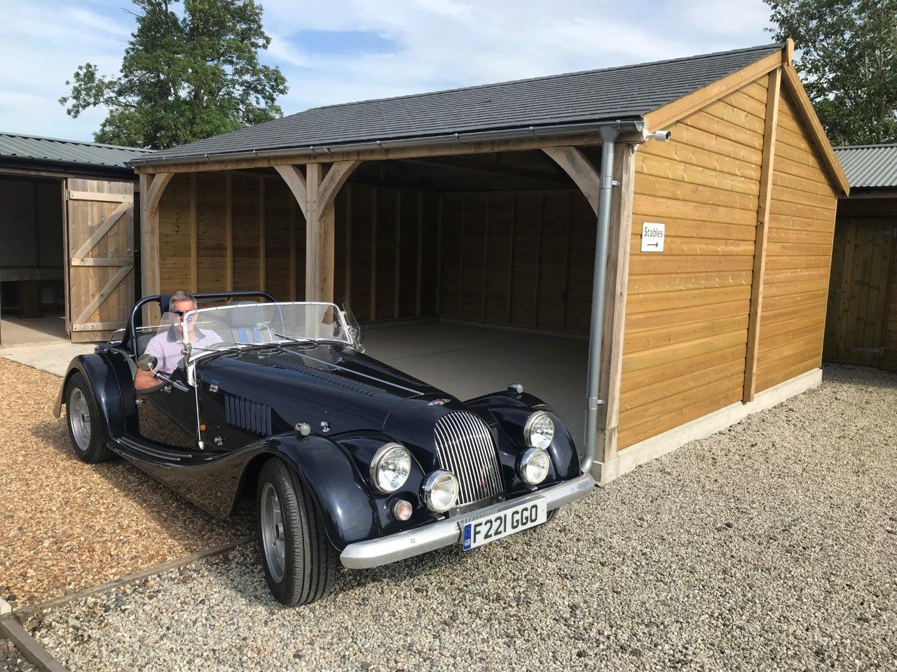 Oak frame carport