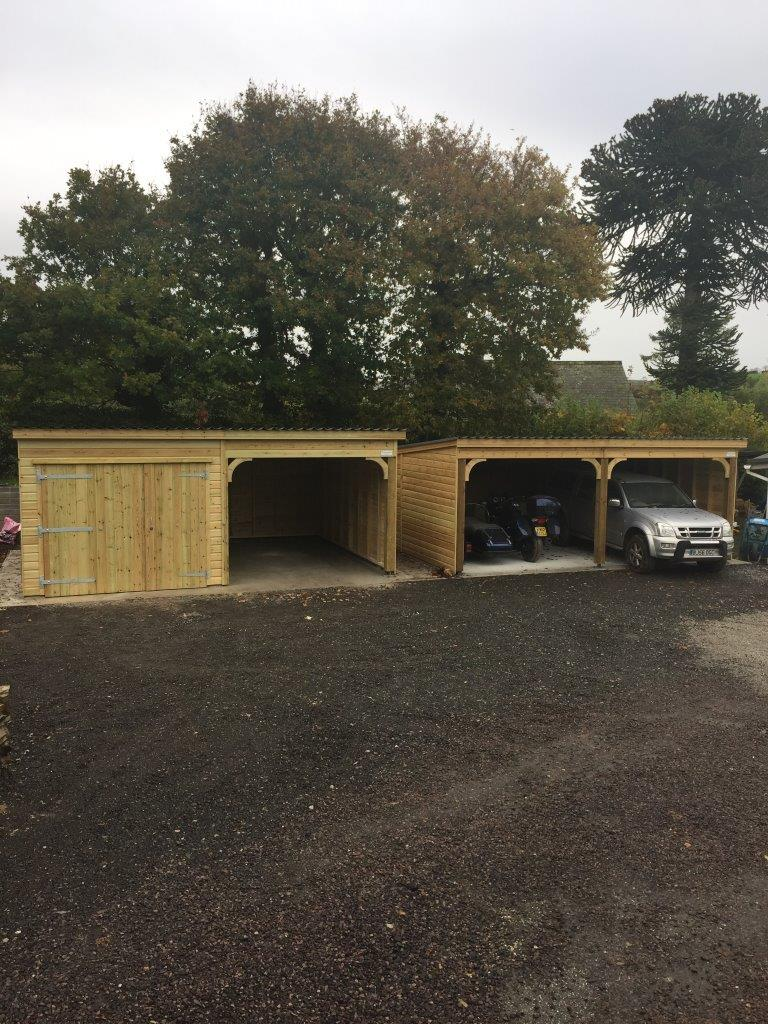 Carpot and Combination Garage