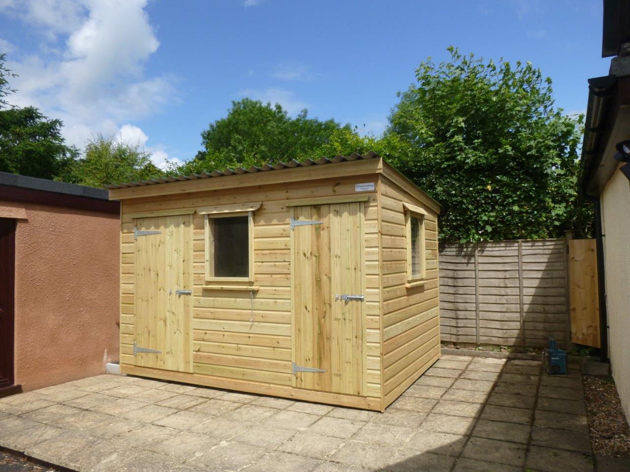 2 door shed