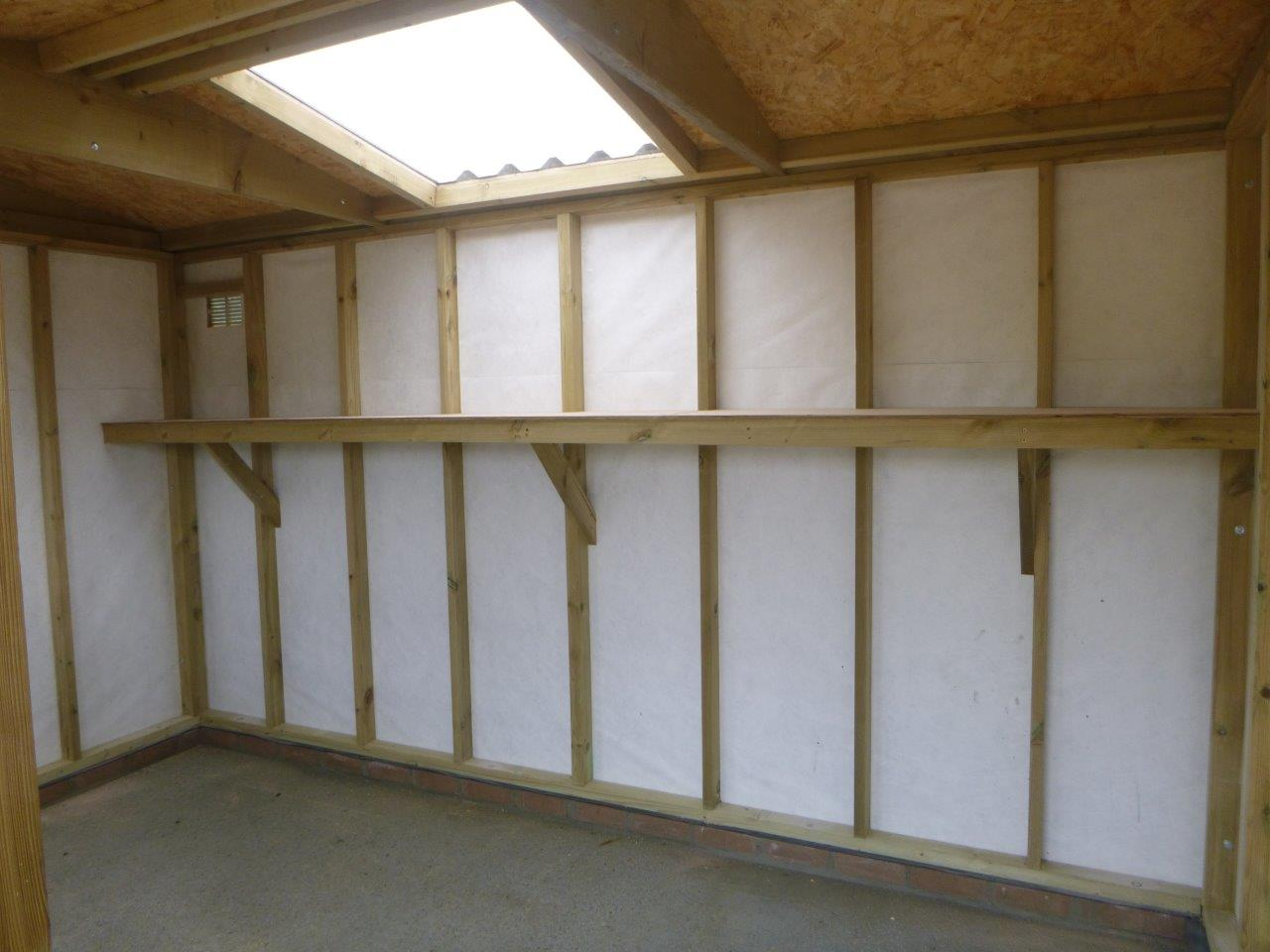 Shelves and roof light