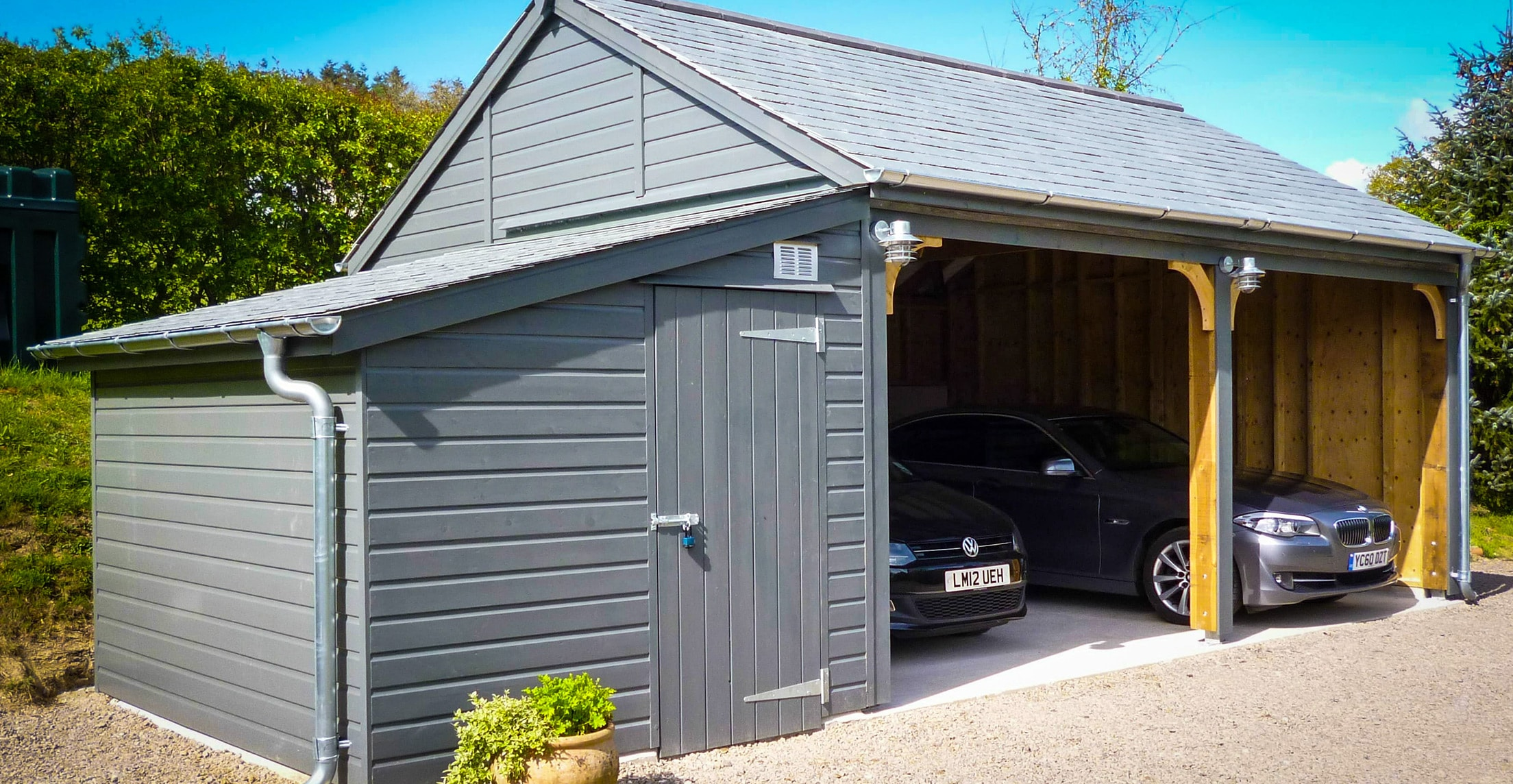 Wooden Carports In Devon By Shields Garden Buildings