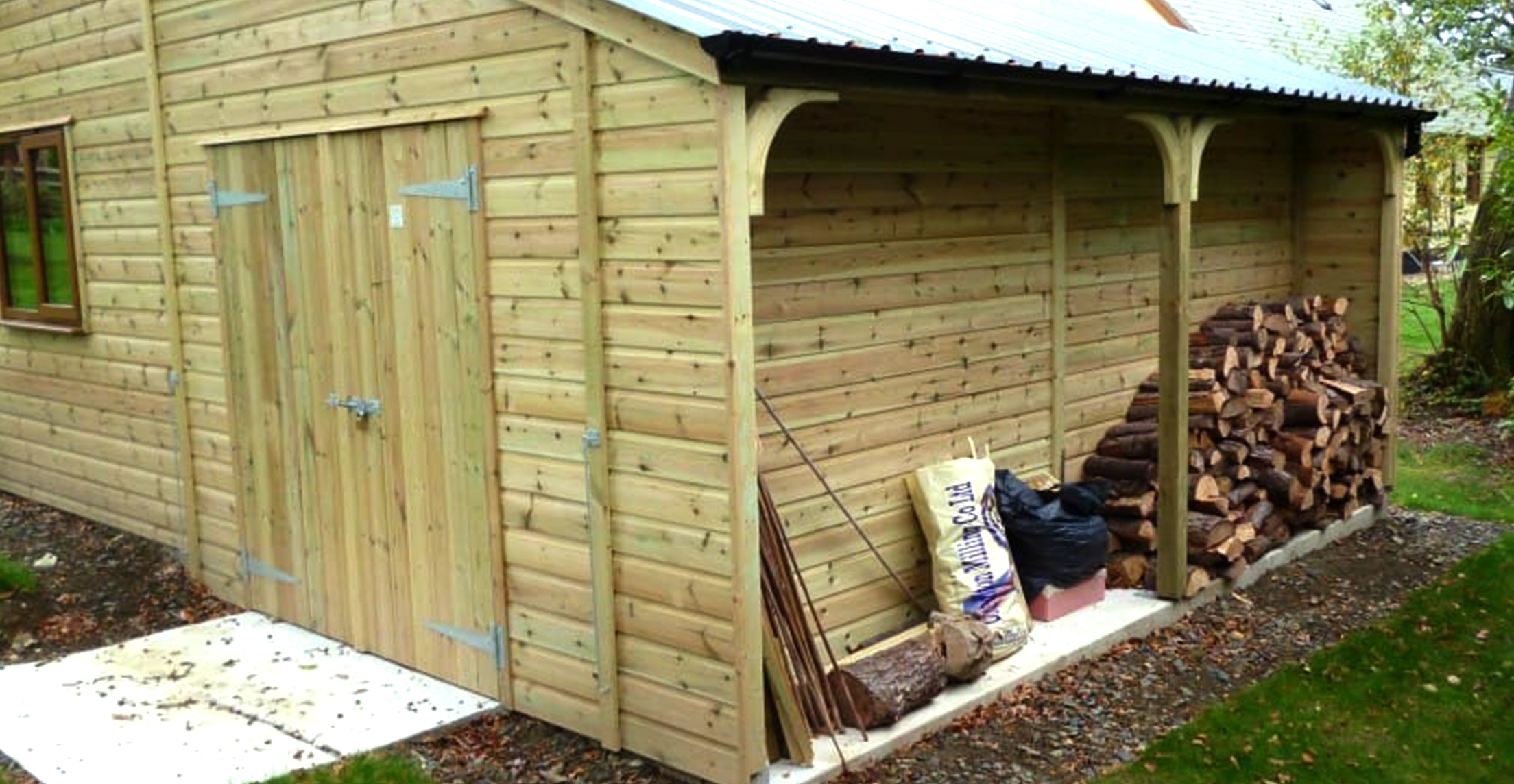 Workshop Woodshed Double Door