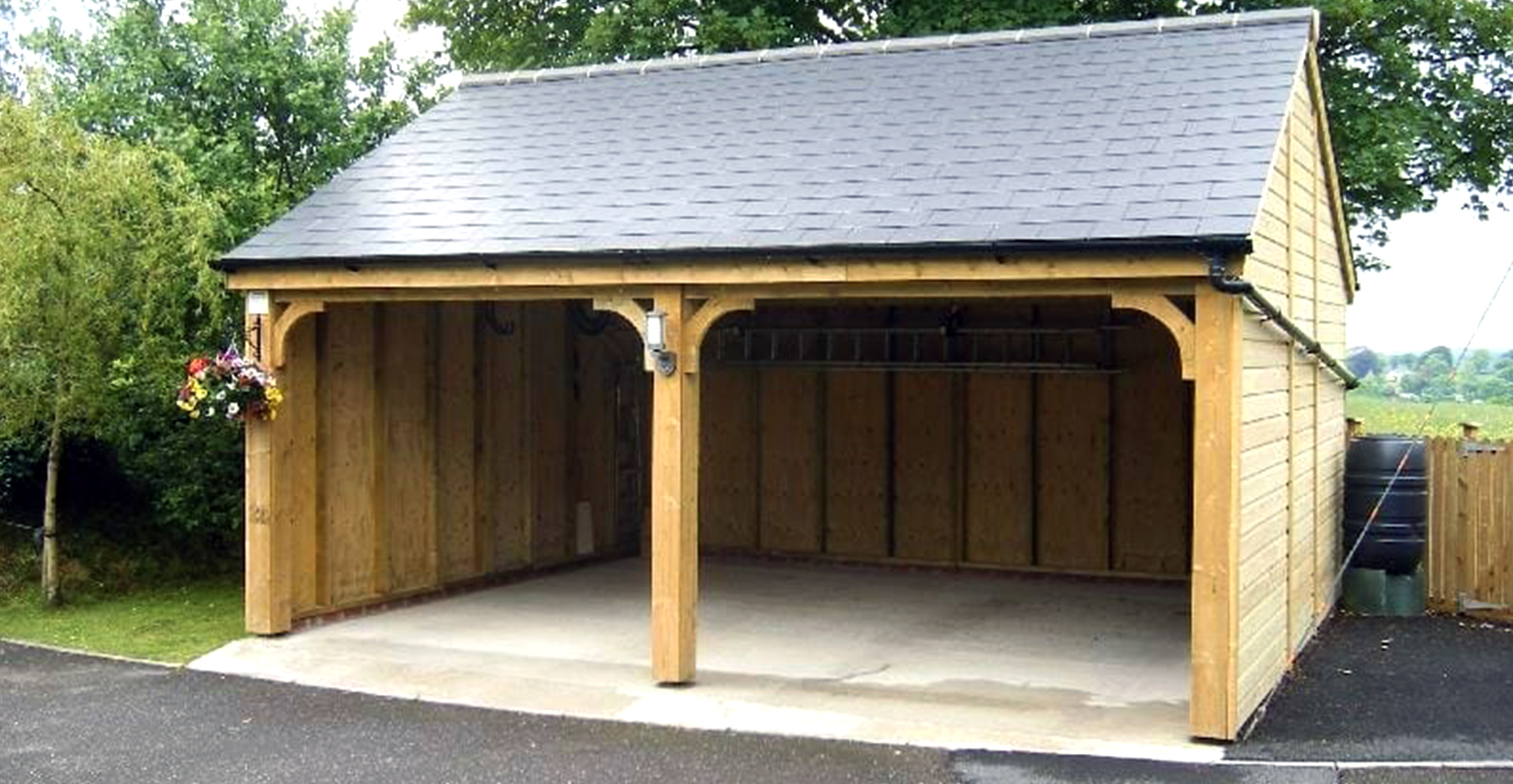 Slate Roof Wooden Garage