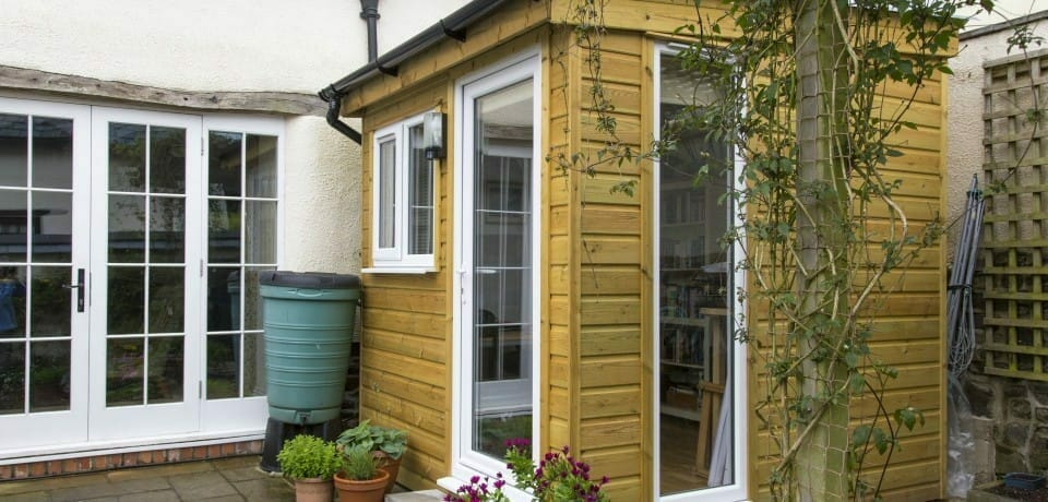 Build a small office in your garden with electric.