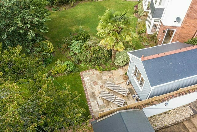 Opt for a slate roof on your bespoke garden studio.