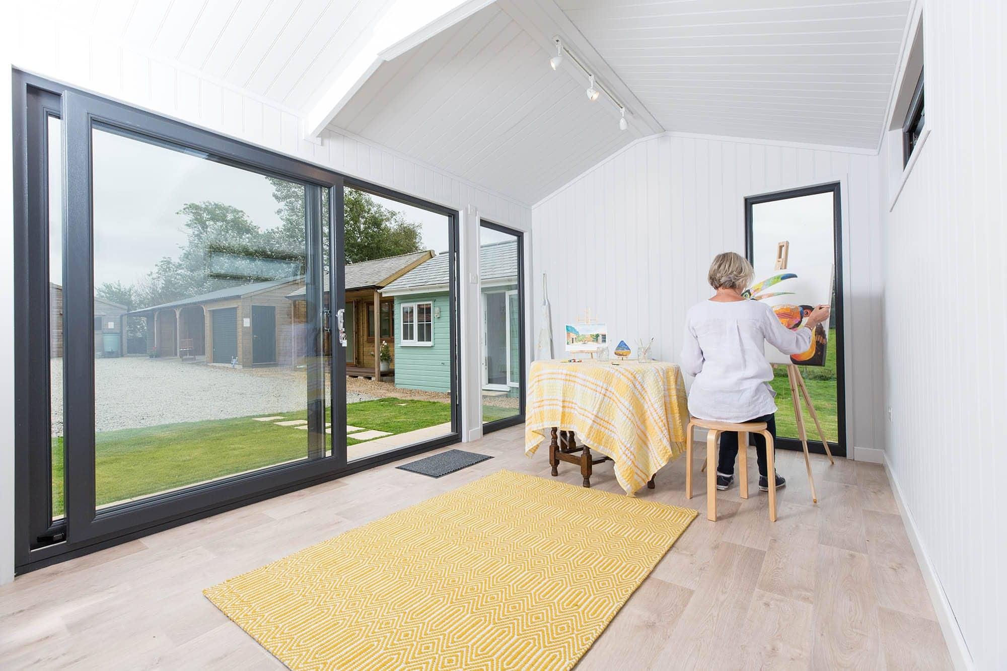 Premium garden building interior