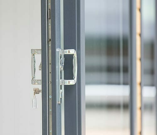 Grey Double Glazed Door with Lock