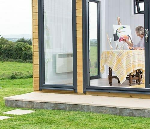 Premium garden buildings with heating.