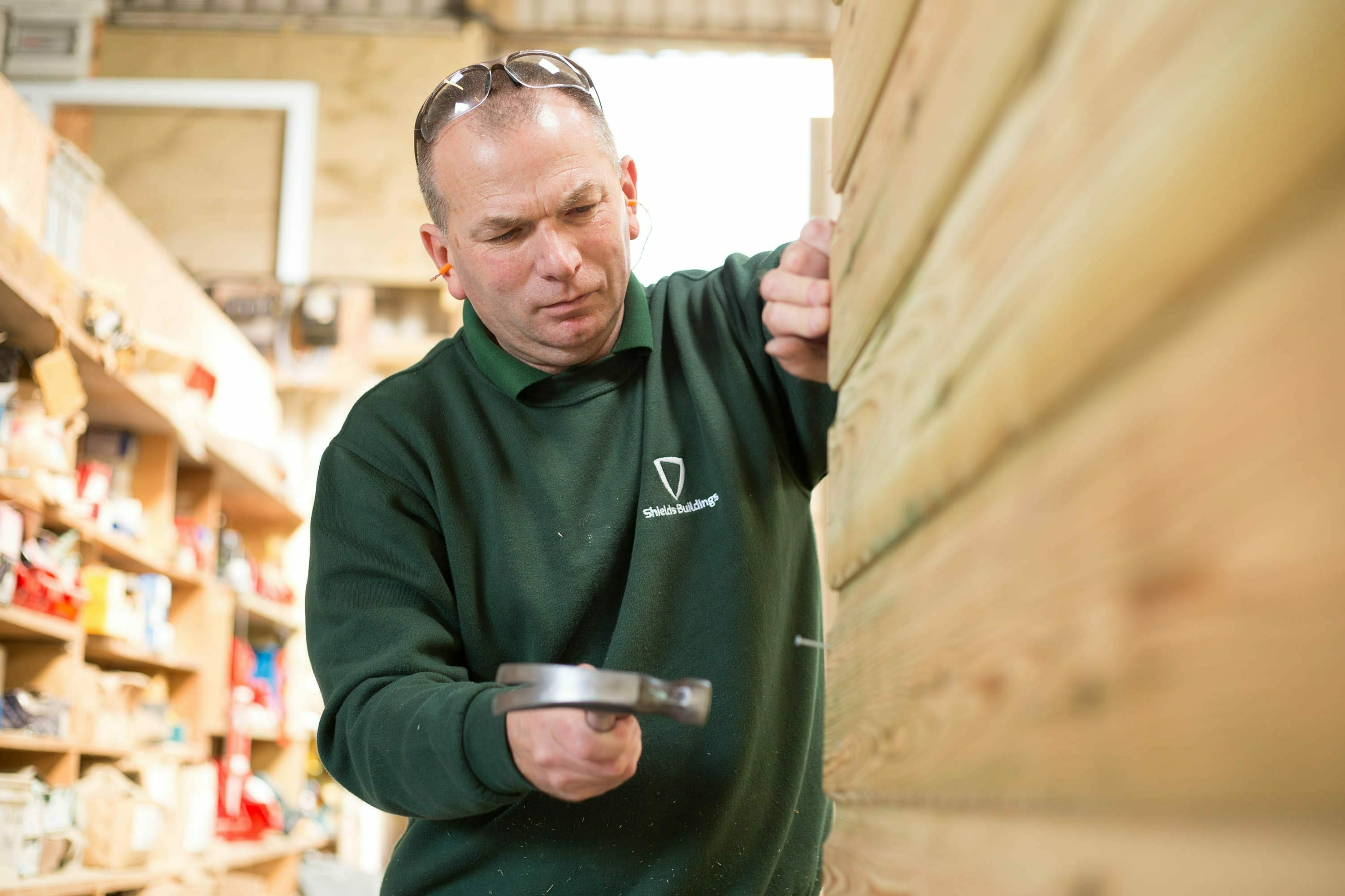 Our garden buildings are made by hand