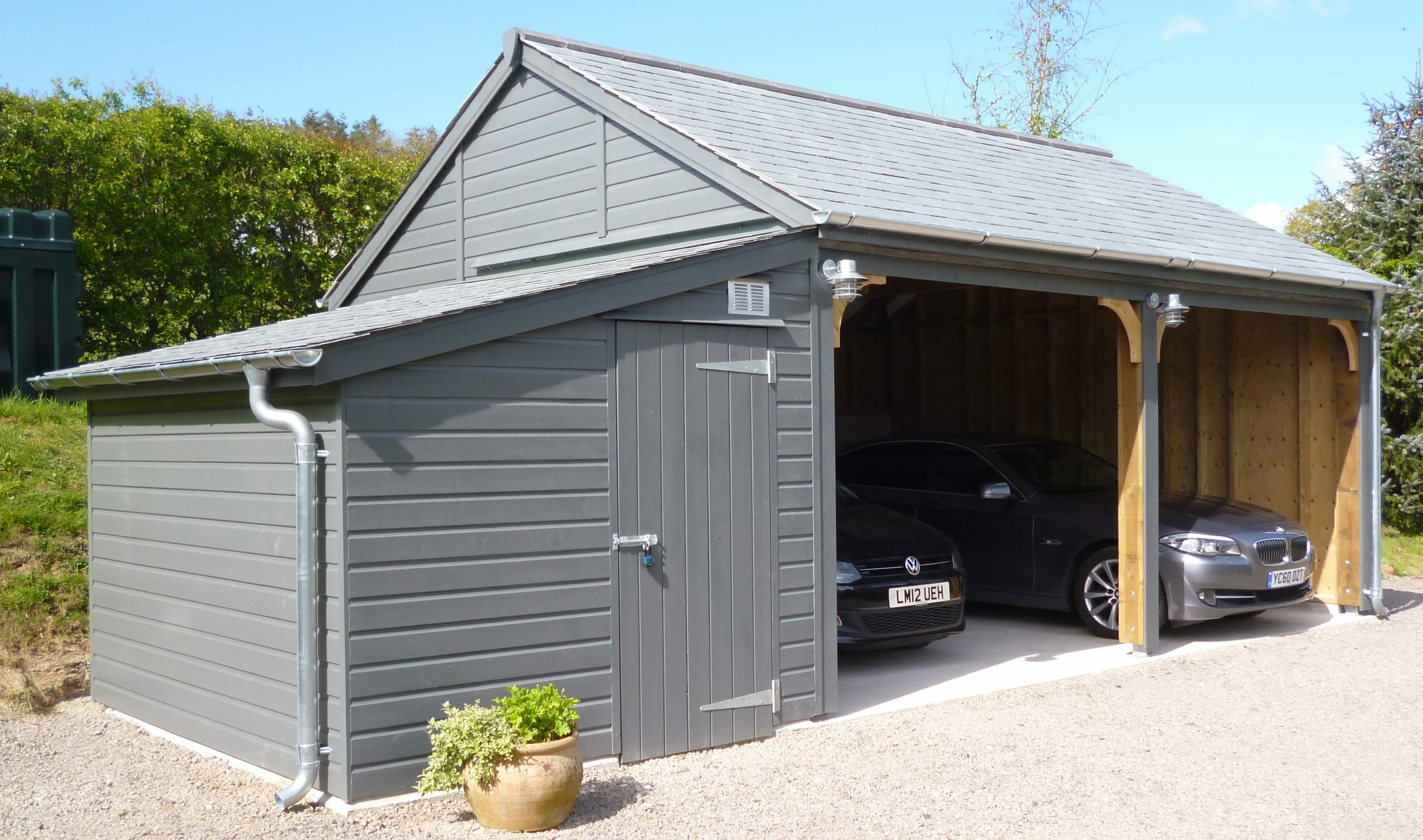 Timber Carport in Grey