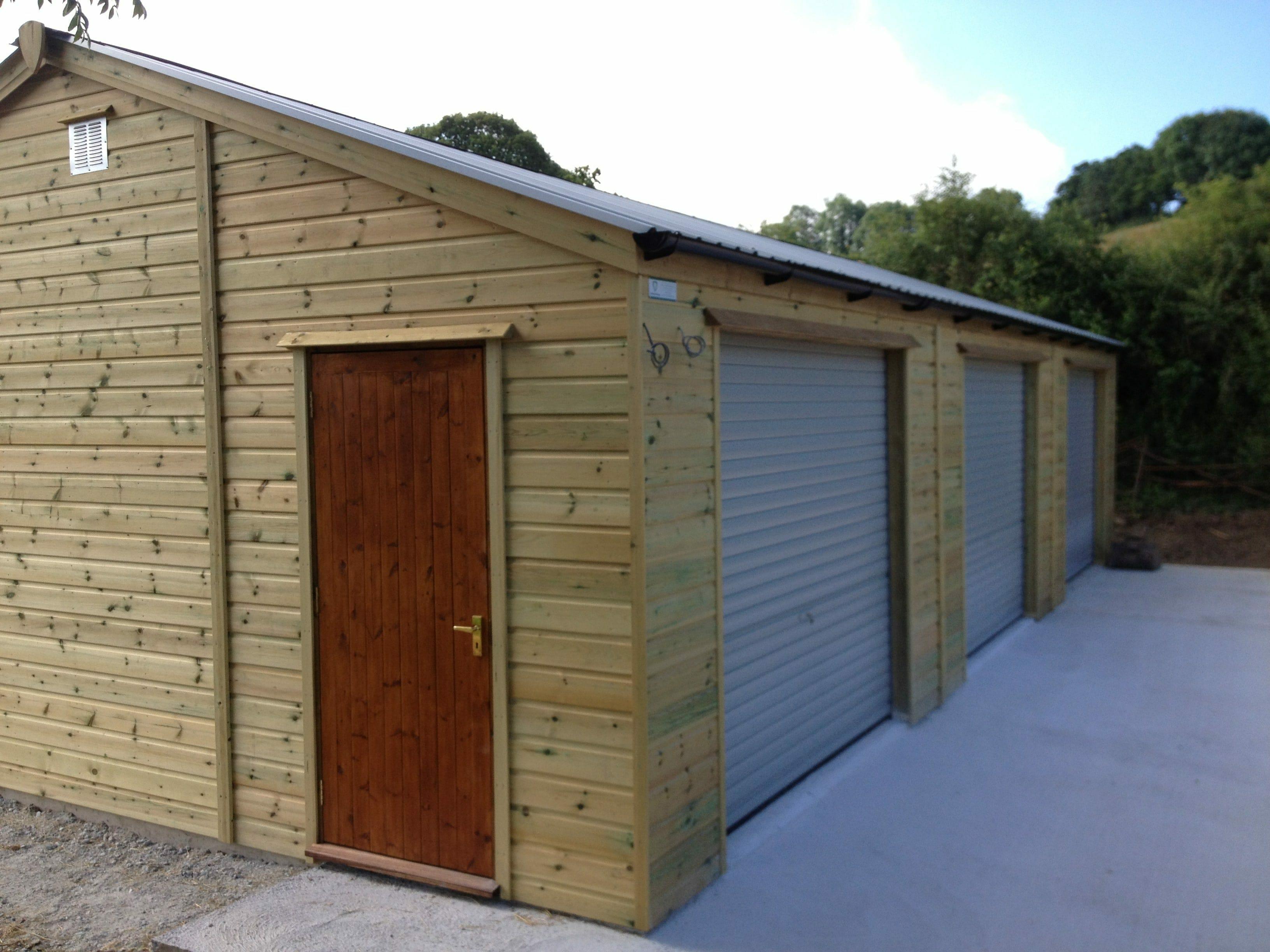 3 bay timber garage
