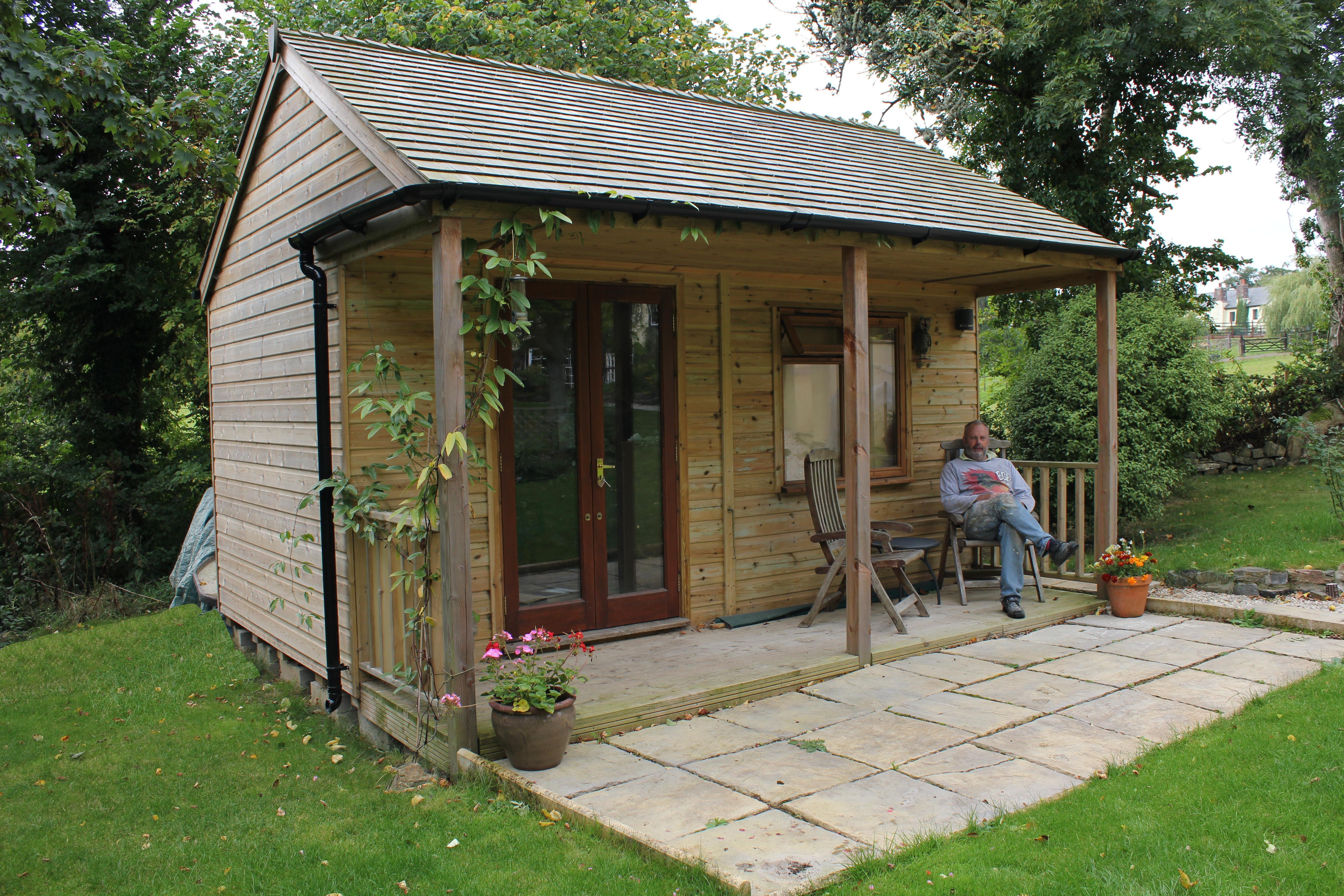 4.8m x 3m studio with cedar roof with customer