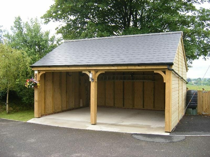 5.8m x 5.1m slate roof Garage