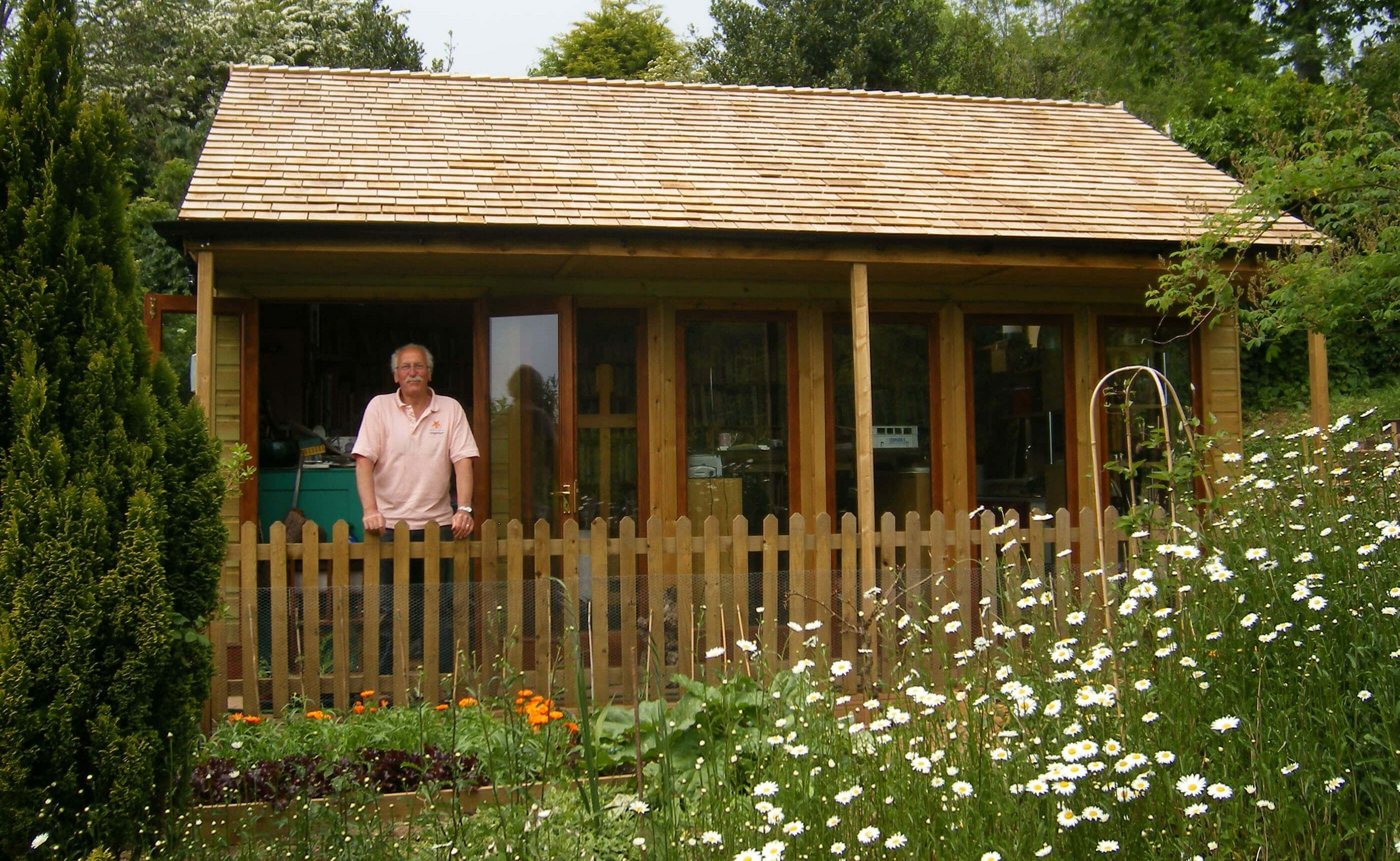 Garden room with covered porch