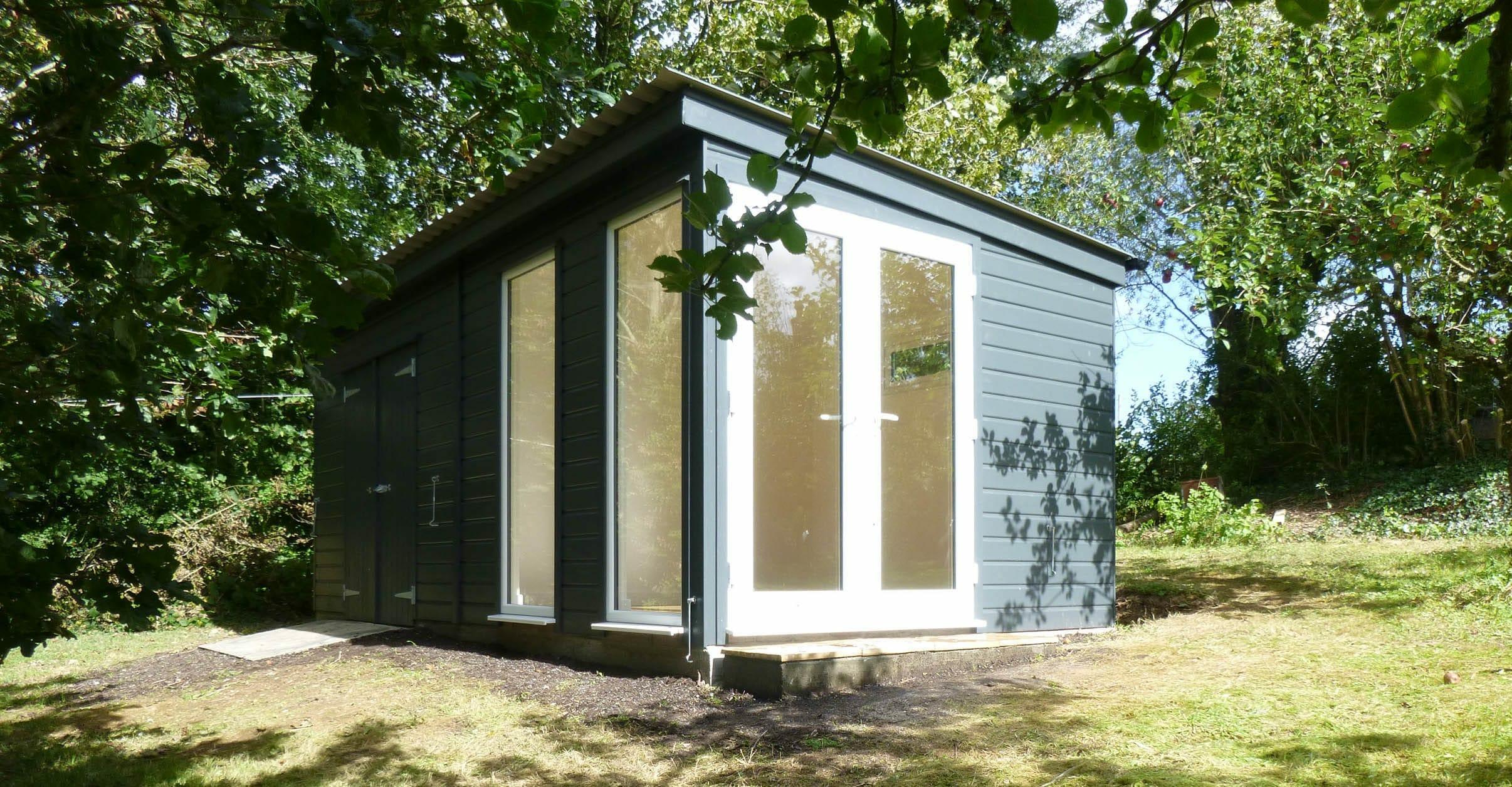 Combination garden studio shed