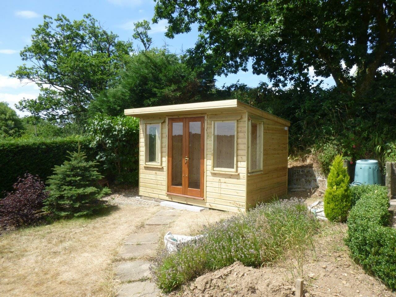 Pine lined summerhouse