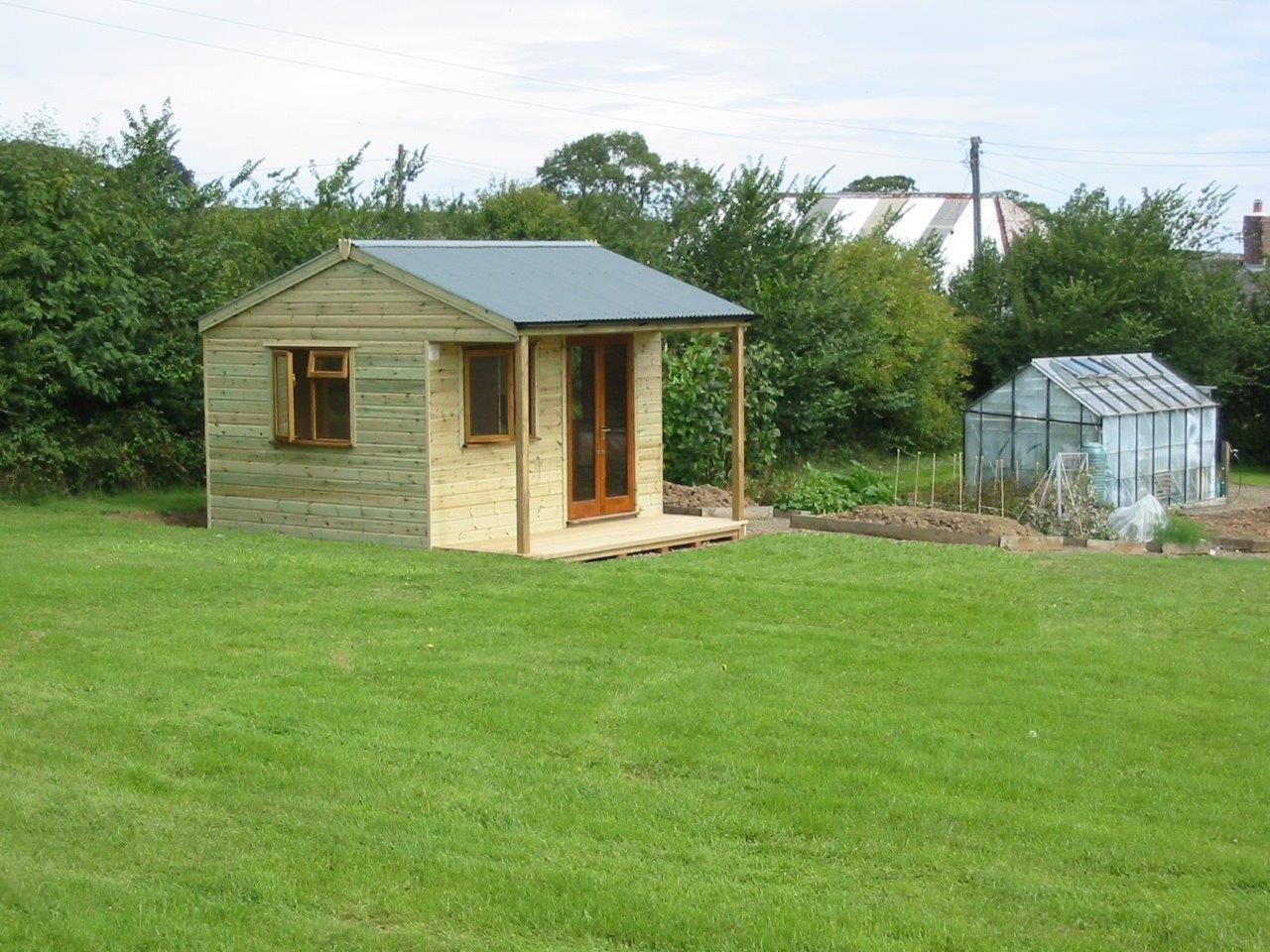 Timber garden studio with veranda