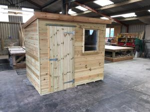 2.4m x 1.8m pent shed