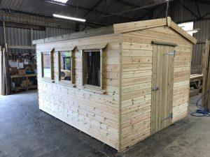 3.6m x 3m shed