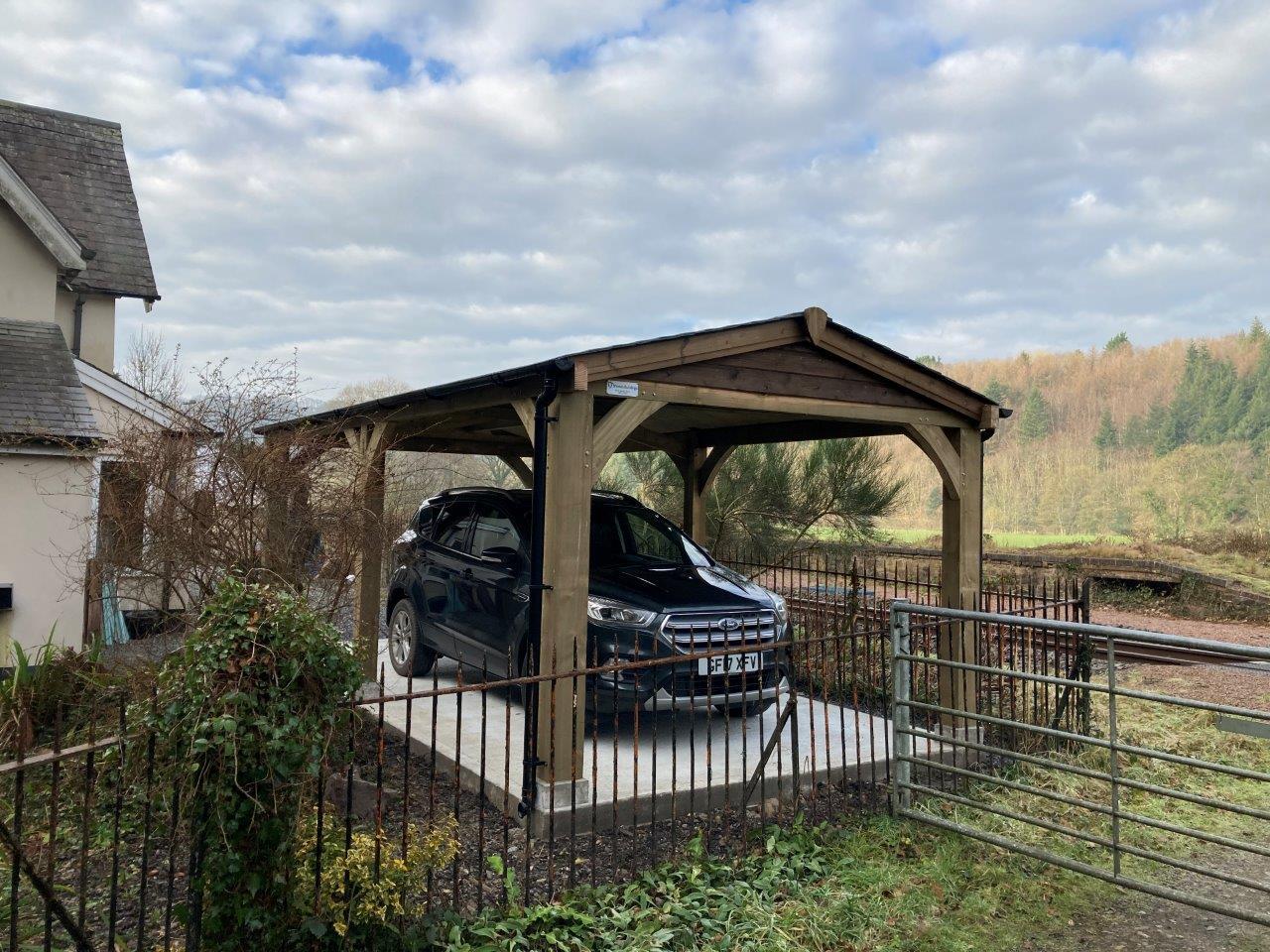Open sided carport