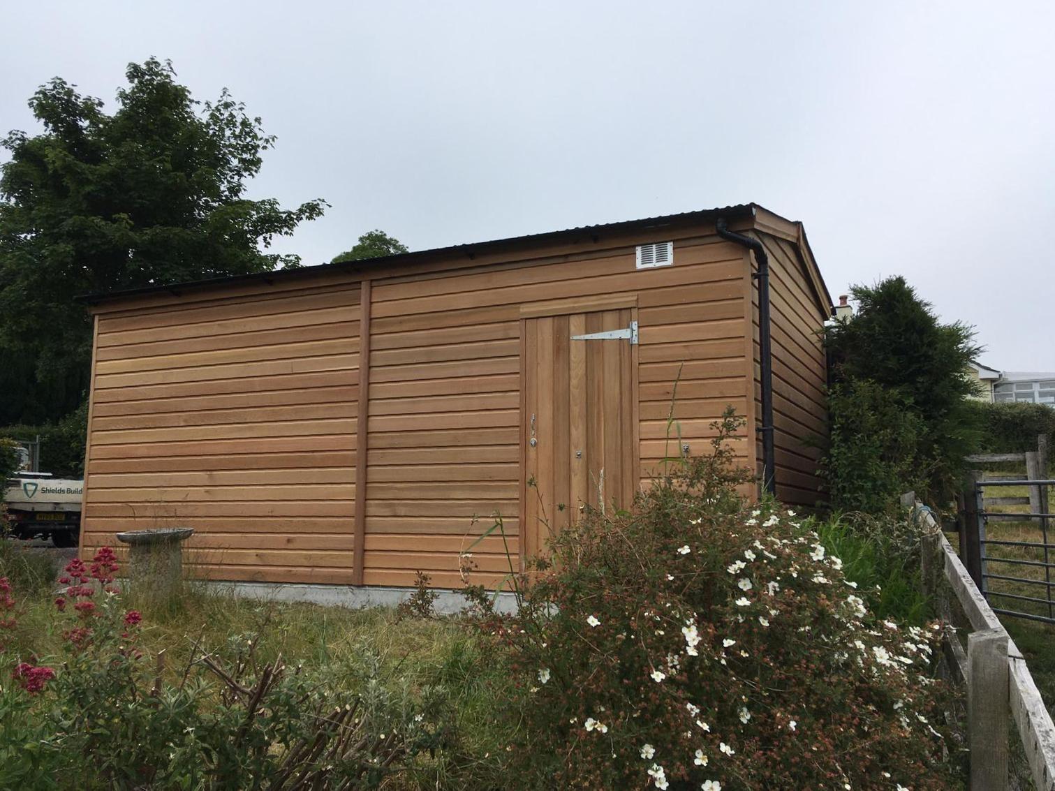 Cedar garage
