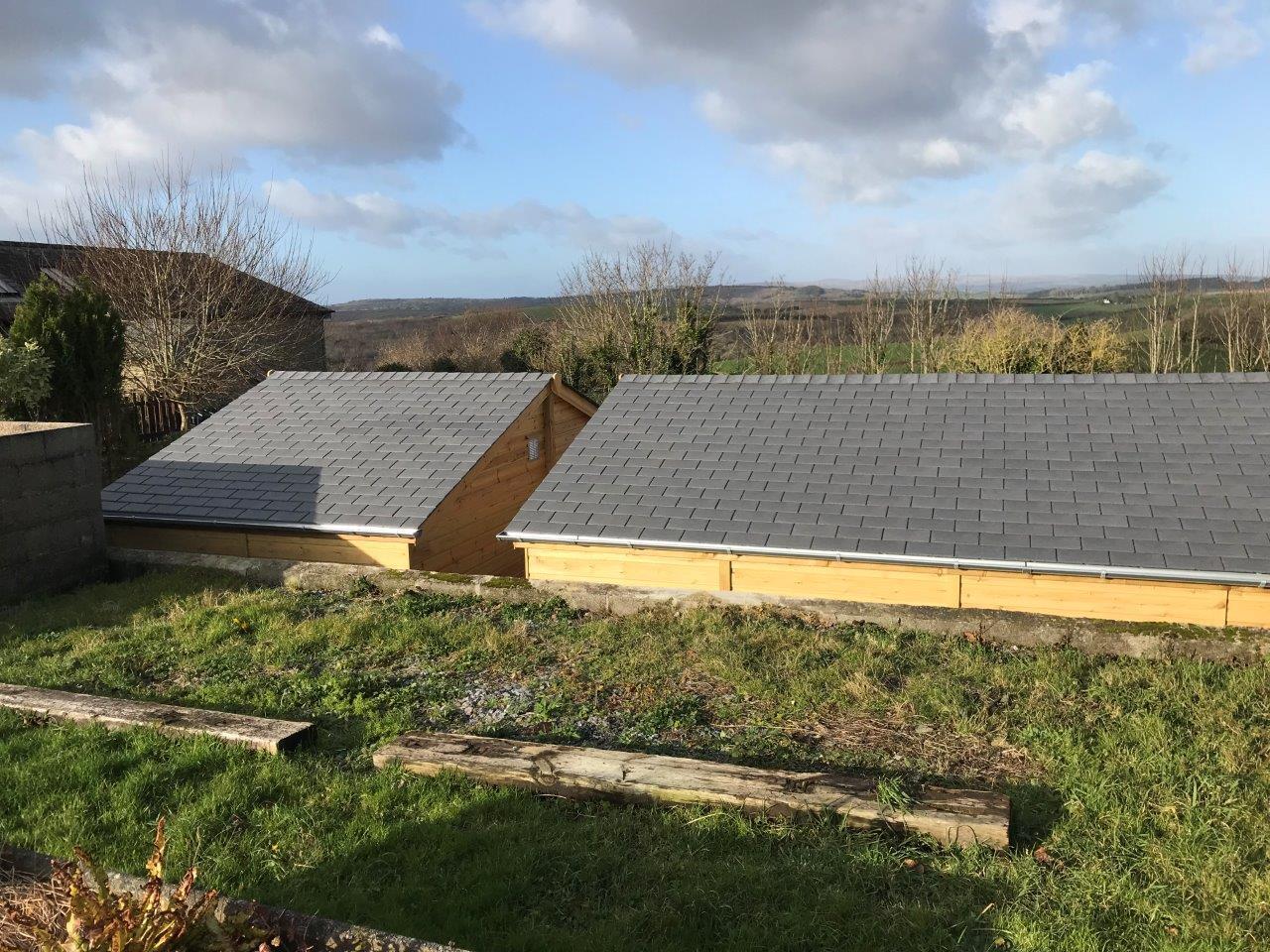 Synthetic slate roof